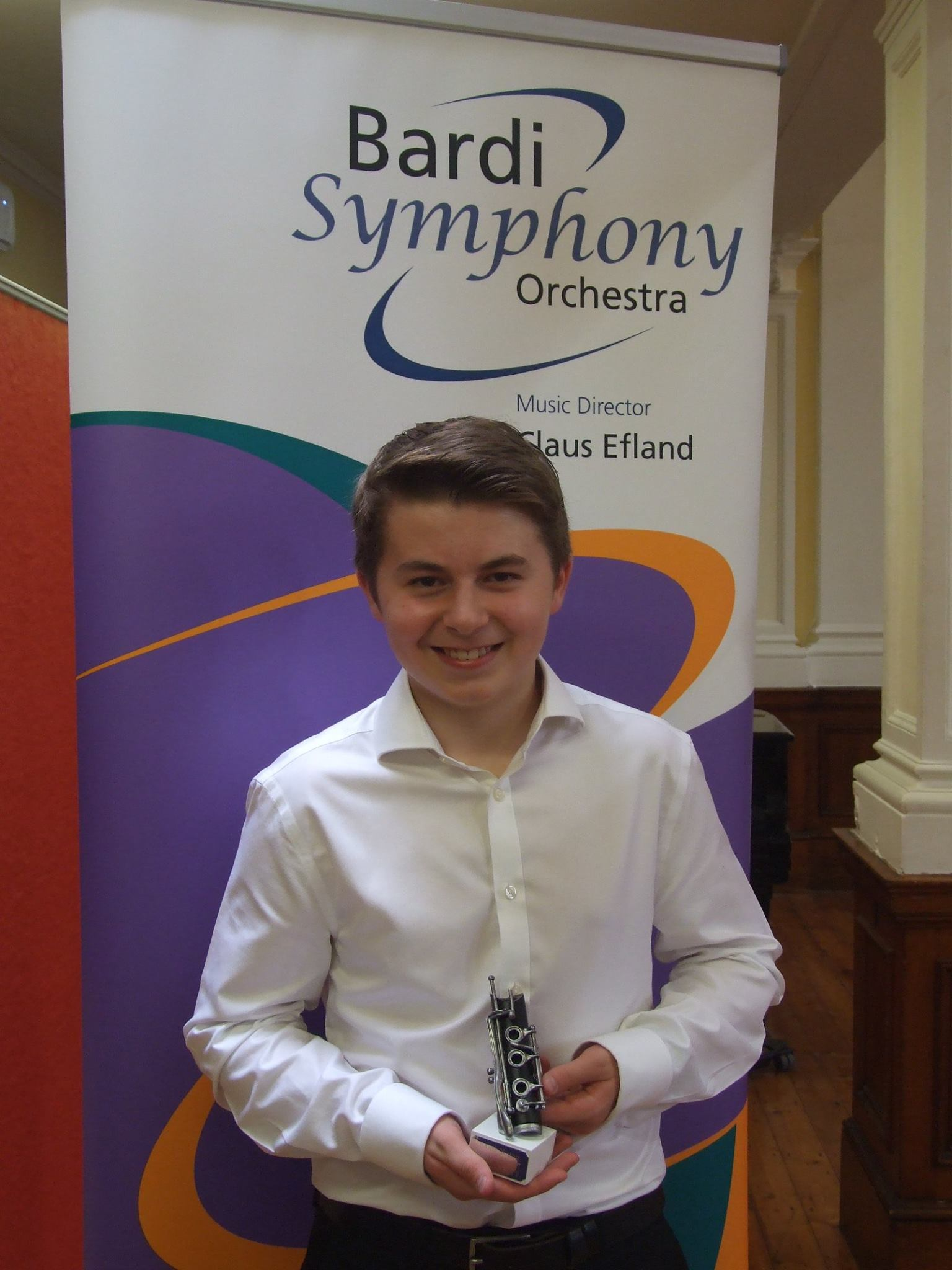 Clarinettist Sam Abbott is the 2017 Bardi Young Musician