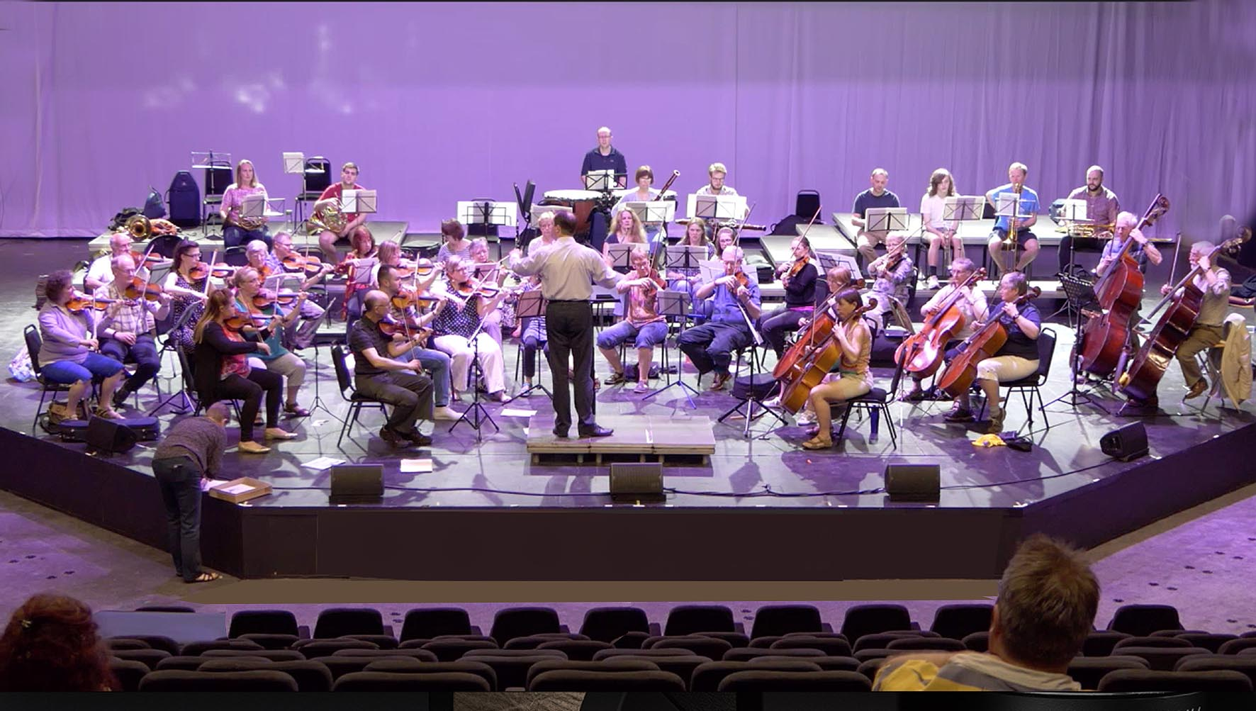 The Bardi are the first orchestra to rehearse in the newly opened Haymarket Theatre