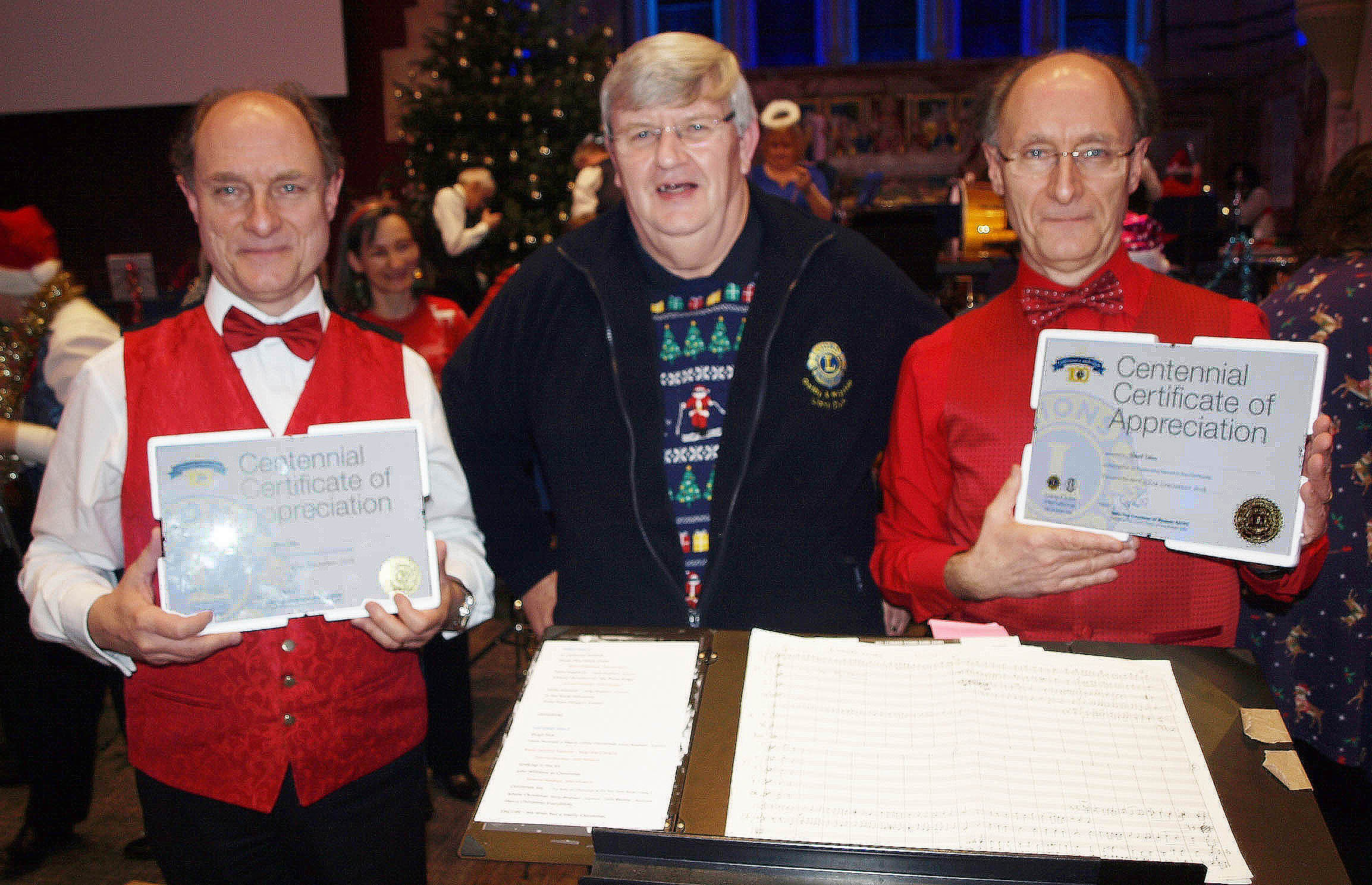 A Centennial Thank You from the Oadby & Wigston Lions to Robert and David Calow